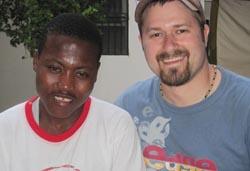 Tim and David in Haiti