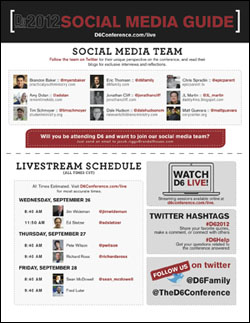 Family Ministry D6 Conference Social Media Guide